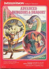 Advanced Dungeons and Dragons (Cloudy Mountains). Jeu en cartouche pour console Mattel Intellivision (1982)