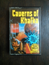Caverns of Khafka. Four-way scrolling screen arcade action. Cosmi Software et US Gold pour Commodore C64 (cassette)