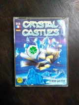 Crystal Castles. Diamond Plateaus in Space. Jeu en cassette pour Commodore C64 C128