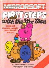 First Steps with the Mr. Men de Mirrorsoft, by Primer Educational Software For Ages 4 to 8 years, pour Commodore 64