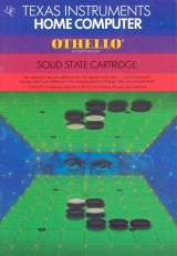 Othello de CBS / Texas Instruments pour ordinateur Ti99-4/A (complet, solid state cartridge)