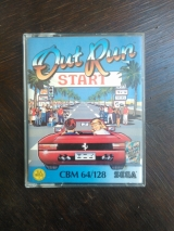 Out Run de Sega et US Gold, pour Commodore 64 (version cassette)
