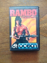 Rambo First Blood Part II, d\'Ocean Software pour Commodore 64 (cassette)