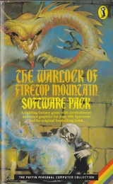 Livingstone, Ian. Jackson, Steve. Nicholson, Russ (ill) The Warlock of Firetop Mountain. Fighting Fantasy Gamebooks 1.Software Pack, Puffin Books, 1983 (LDVELH)