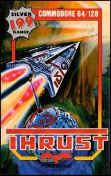 Thrust de Firebird (1986) pour Commodore 64 (version cassette)