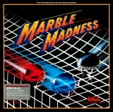 Marble Madness d\'Atari par Electronic Arts pour Commodore 64/128 (disquette)