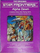 Star Frontiers. Alpha Dawn. Jeu de rôle dans un univers Space opera par TSR Hobbies, Inc. (1982)
