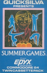 Summer Games de Quicksilva / Epyx pour Commodore 64/128 (disquette)