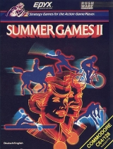 Summer Games II d\'Epyx en version spéciale import France pour Commodore 64/128 (cassette)