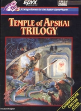 Temple of Apshai Trilogy d\'Epyx Software en version disquette pour Commodore 64 (disque et instructions seuls)