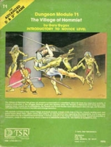 Dungeon Module T1 The Village of Hommlet by Gary Gygax. Introductory to Novice Level. For Advanced Dungeons and Dragons Game