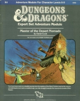 X4 Master of the Desert Nomads by David Cook. Adventure Module for Characters Levels 6-9. TSR Inc., 1983