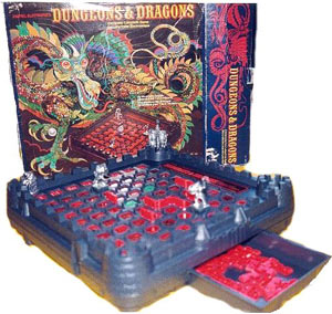 Dungeons and Dragons (DnD). Jeu de plateau électronique. Mattel Electronics, 1980.