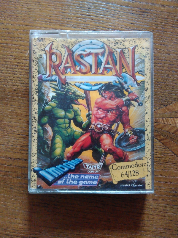Rastan de Taito, adapté par Imagine the Game pour Commodore 64 (version cassette)