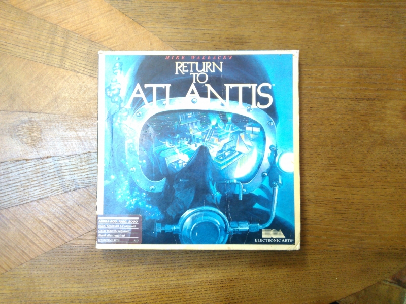 Return to Atlantils de Mike Wallace pour Commodore Amiga (Jeu sous étui en version originale Electronic Arts). Rare