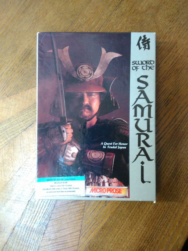 Sword of the Samuraï de Microprose pour IBM PC et compatibles. Version disquettes 5,25''