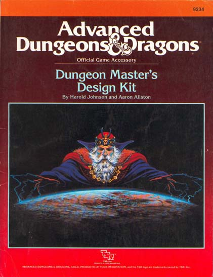 9234 Dungeon Master's Design Kit by Harold Johnson and Aaron Allston. TSR Inc., 1988