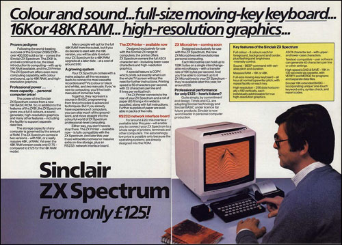 Micro-ordinateur ZX Spectrum de Sinclair Research Ltd. (1982)